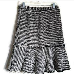 j. crew metallic tweed ruffle skirt size 2